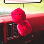 rearview advertising dice