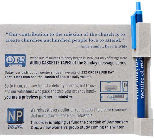 North Point Ministries Pen Card