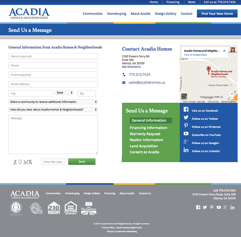 Acadia-Contact-Page