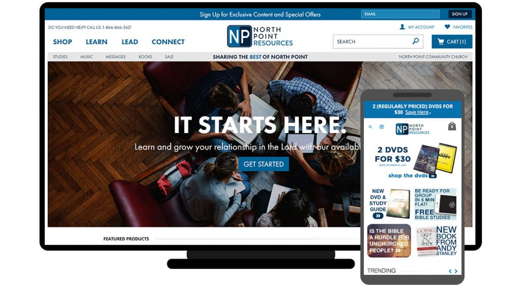 North Point client spotlight - NP Resources desktop and mobile online store