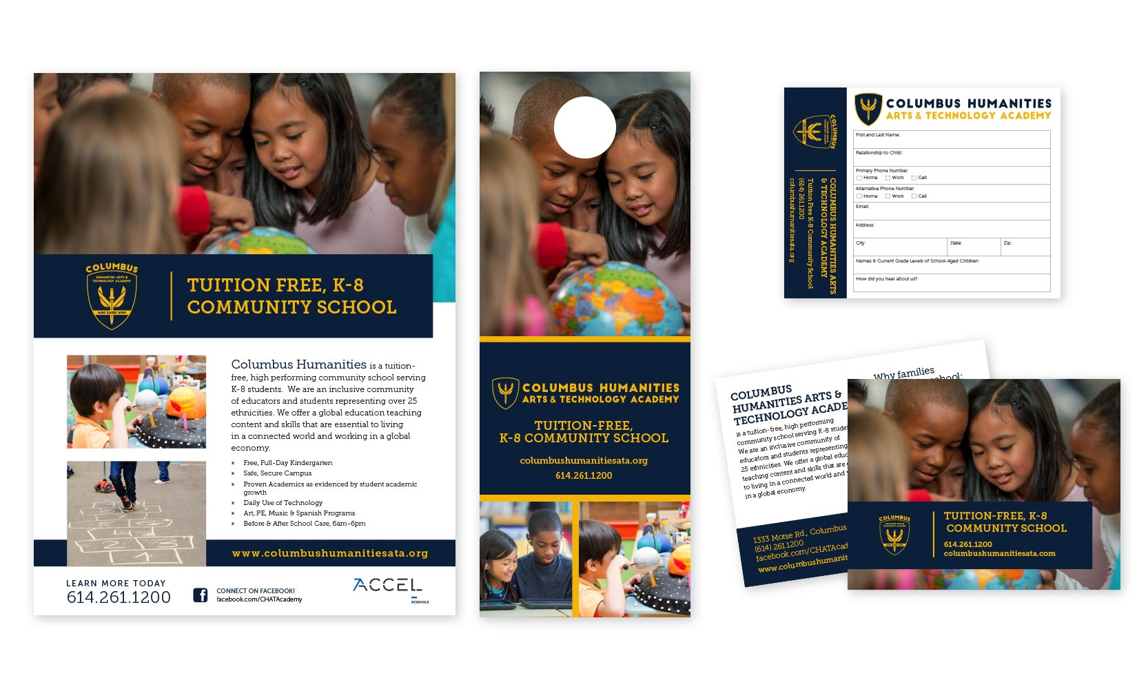 Cohesive Marketing Collateral Design for Accel Schools