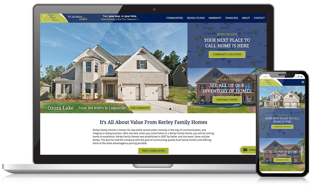 Kerley Family Homes Website Example