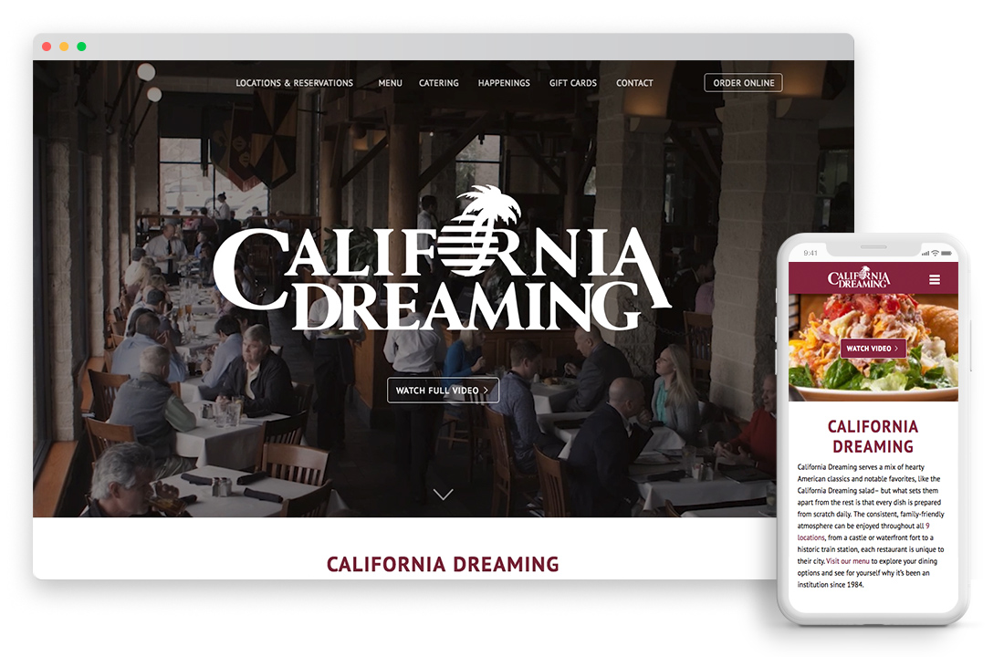 California Dreaming Website