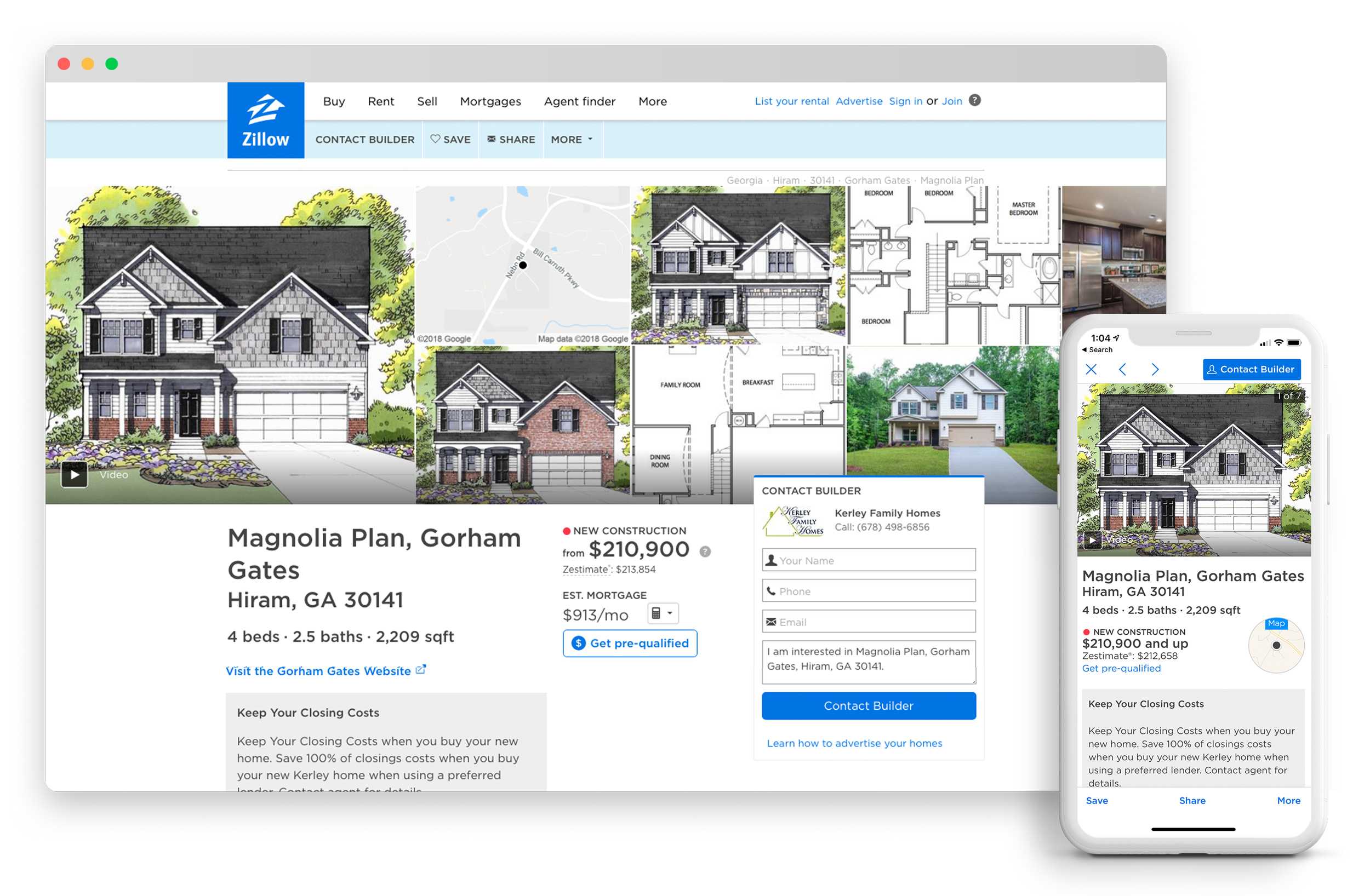Zillow New Home Feed