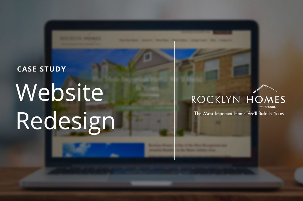 Case study for Rocklyn Homes' new lead-generating website