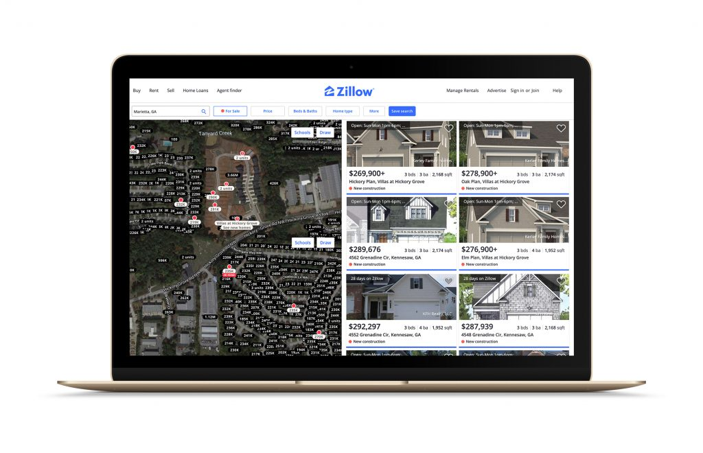 the map in zillow