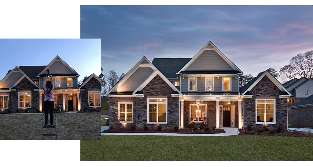 engaging imagery includes wonderful product photos, like this one for a homebuilder