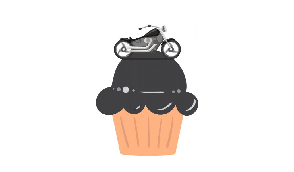 little elements of design add up, like the frosting and the topper of this cupcake