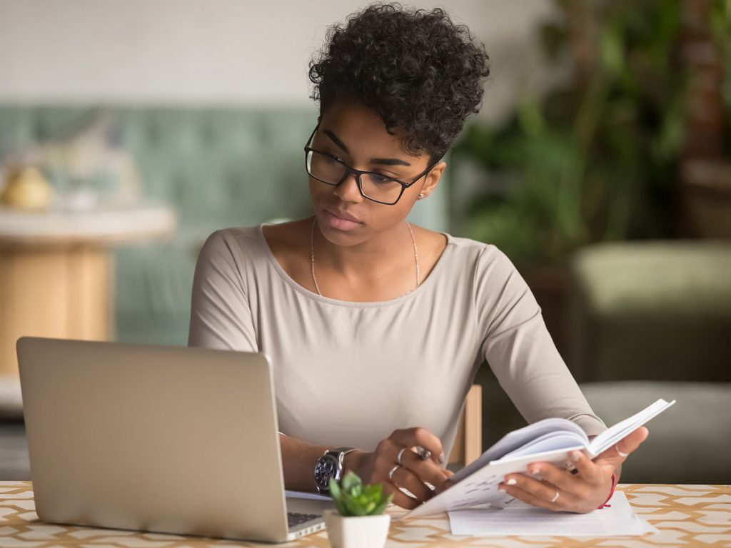 woman preparing for changes to ads