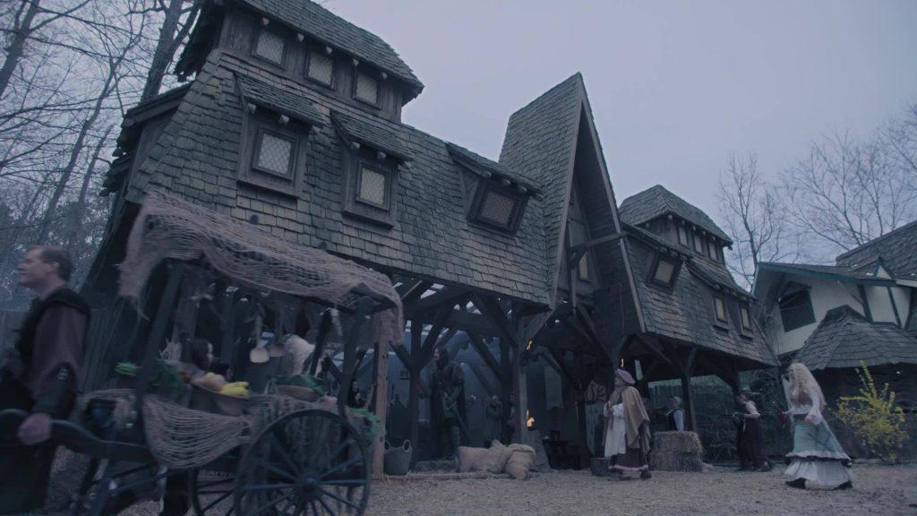 the renaissance festival is hosting a haunted village